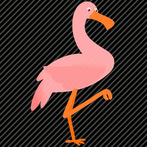 animal, bird, flamingo, pink icon