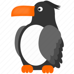 bird, dark, toucan, white icon