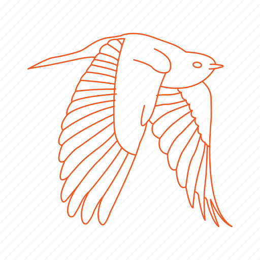 bird, birds, feathers, fly, flying, wings icon