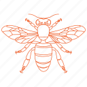 bee, bumble bee, bumblebee, honey bee, wings icon