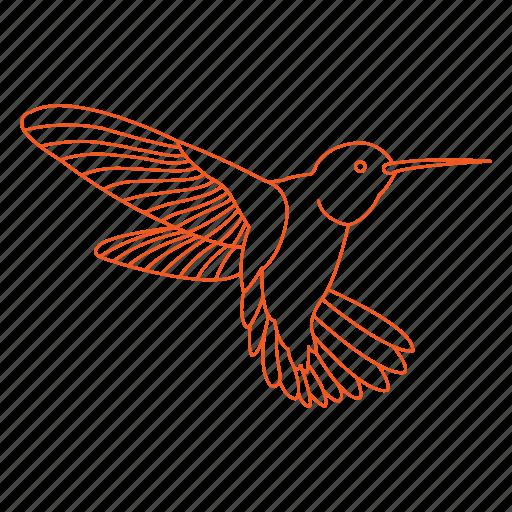 bees, bird, fly, humming bird, hummingbird, nectar, wings icon