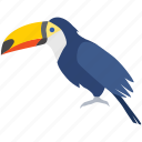 amazon, bird, brazil, exotic, toco, toucan, tropical icon