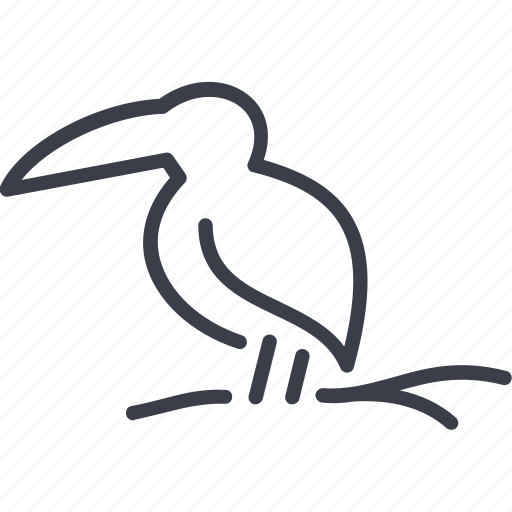 bird, contour, silhouette, to fly, toucan, wing icon