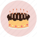 birthday, birthday cake, cake, candle, candles icon