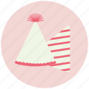 bell, birthday, cone icon