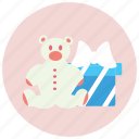 bear, birthday, box, gift icon