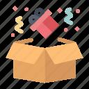 birthday, box, gift icon