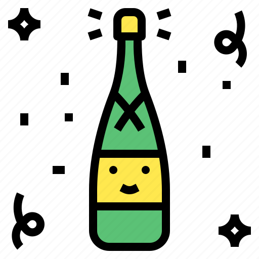 alcohol, champagne, drink, party icon