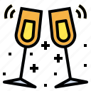 alcohol, champagne, drink, wine icon