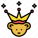crown, empire, hat, king, party icon