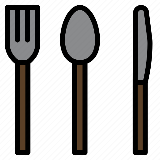 cake, dish, fork, spoon icon