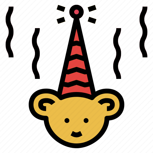 birthday, happy, hat, star icon