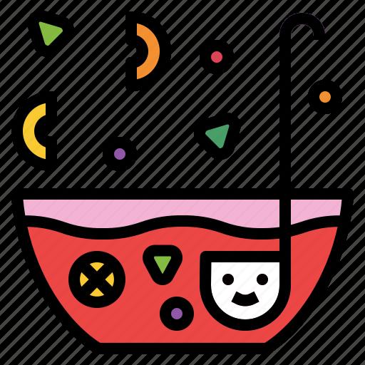 bowl, drink, fresh, punch, splash icon