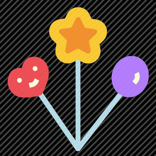 balloon, gas, happy, party icon