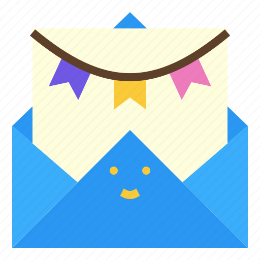 birthday, cake, candle, card icon