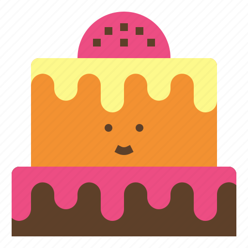birthday, cake, dish, light, sweet icon