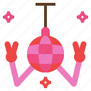 ball, blink, disco, happy, party icon
