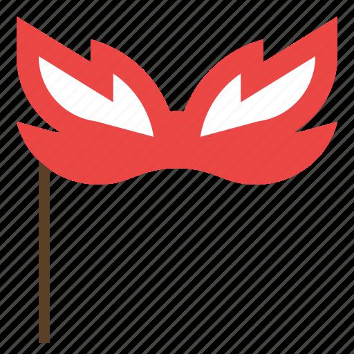 eye, happy, mask, party icon
