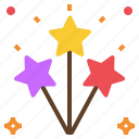 firework, light, party, spark icon