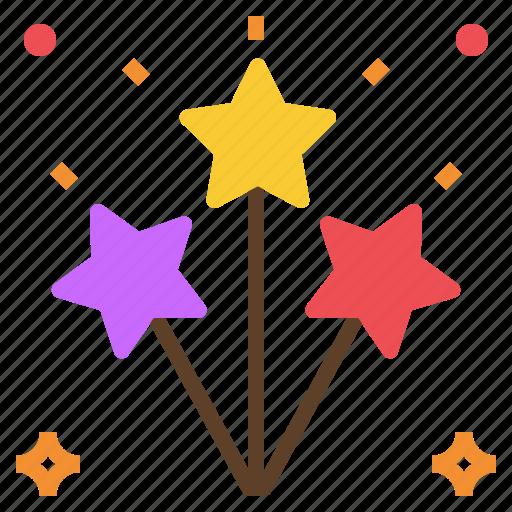firework, light, party, spark icon