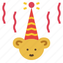 birthday, happy, hat, star icon