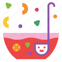 bowl, drink, fresh, punch, splash icon