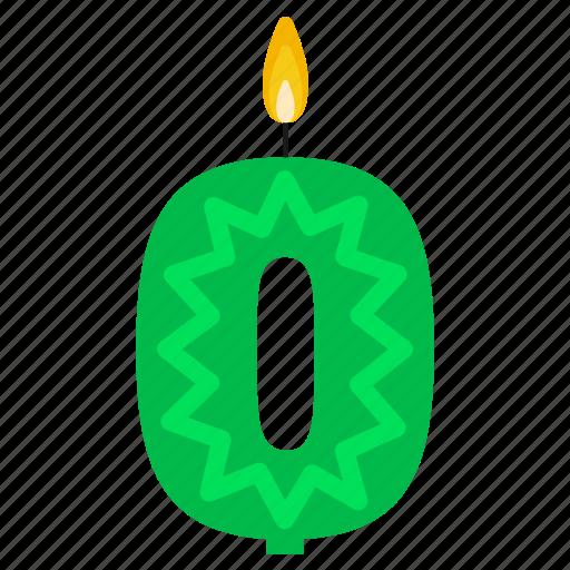 anniversary, birthday, cake, candle, number, year, zero icon