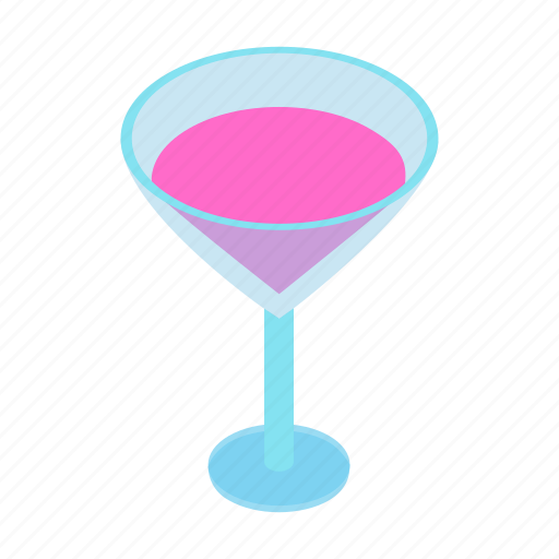 alcohol, bar, beverage, birthday, celebration, cocktail, isometric icon