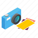 camera, focus, isometric, lens, photo, photography, photos icon