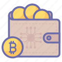 bit, coin, ecommerce, money, shopping, wallet icon