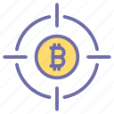 bit, coin, currency, finance, money, money target, target icon