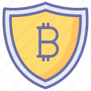bit, bitcoin, coin, finance, money security, secure currency icon