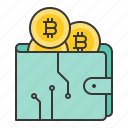 bag, bitcoin, blockchain, cryptocurrencty, digital currency icon