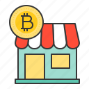 accepted, bitcoin, blockchain, cryptocurrencty, digital currency, payment, store icon