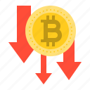 bitcoin, blockchain, cryptocurrency, digital currency, price decrease