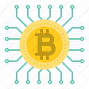 bitcoin, blockchain, cryptocurrency, digital currency, processor, ship icon