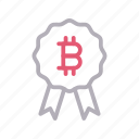 badge, bitcoin, crypto, currency, medal