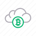 bitcoin, cloud, crypto, currency, money