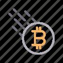 bitcoin, crypto, currency, money, send
