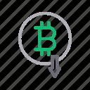 bitcoin, currency, decrease, down, money