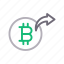 bitcoin, currency, money, send, transfer