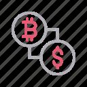 bitcoin, currency, dollar, money, transfer