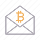 bitcoin, currency, email, message, money