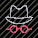 agent, glasses, hacker, hat, spy