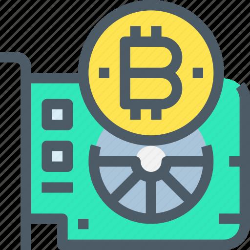 bank, bitcoin, cryptocurrency, digital, hardware, money icon