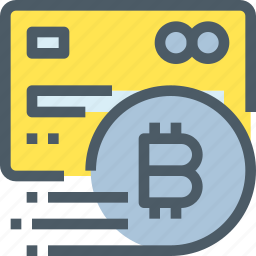 bank, bitcoin, credit card, cryptocurrency, digital, money, payment icon