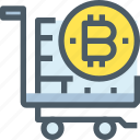 bank, bitcoin, cryptocurrency, digital, money, shopping icon