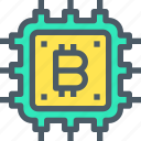 bank, bitcoin, cryptocurrency, digital, hardware, money icon