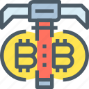 bank, bitcoin, cryptocurrency, dig, digital, money icon