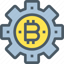 bank, bitcoin, cryptocurrency, digital, money, process icon
